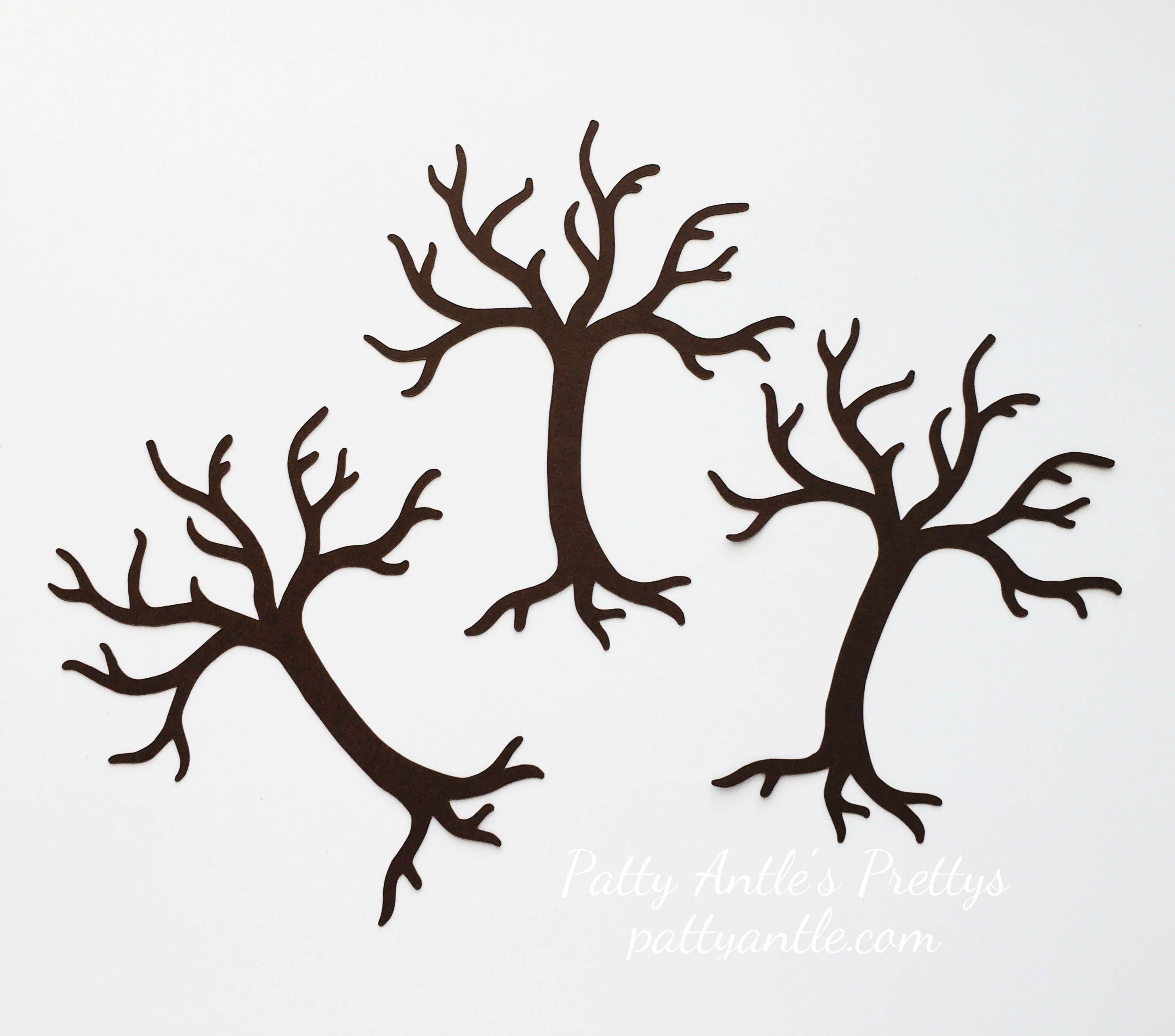 Dead Tree Die Cuts Halloween Die Cuts Paper Tree 4 Ct. Bare Tree Die Cuts Tree Die Cuts