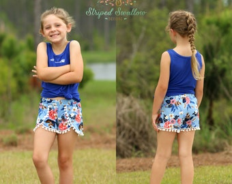 Coachella Shorts PDF Sewing Pattern ... Sizes 6mos-14yrs