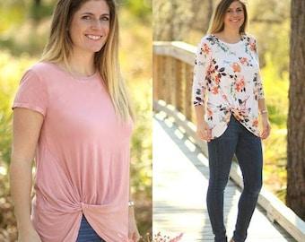 Harbor Knot Tee Women's PDF Sewing Pattern Sizes XS_XXXL