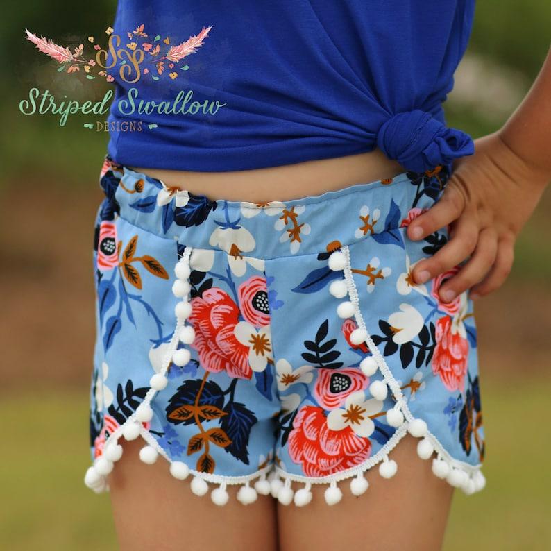 2a004fabb Coachella Shorts PDF Sewing Pattern ... Sizes 6mos-14yrs