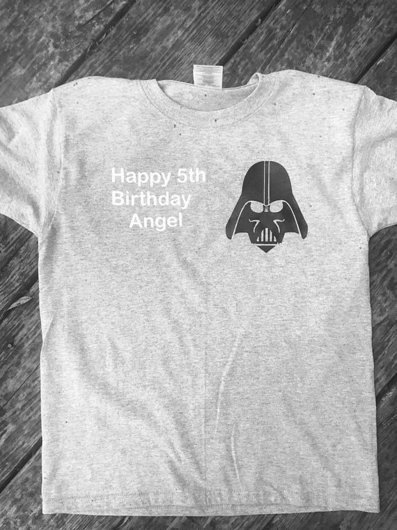 Free Shipping Star Wars Birthday Shirt Darth Vader