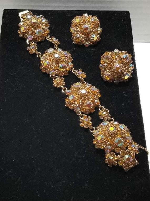 Beautiful Austrian Rhinestone Bracelet Set - image 1
