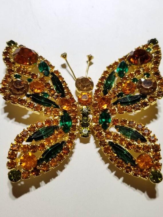 Huge Verified Juliana(D & E) butterfly brooch