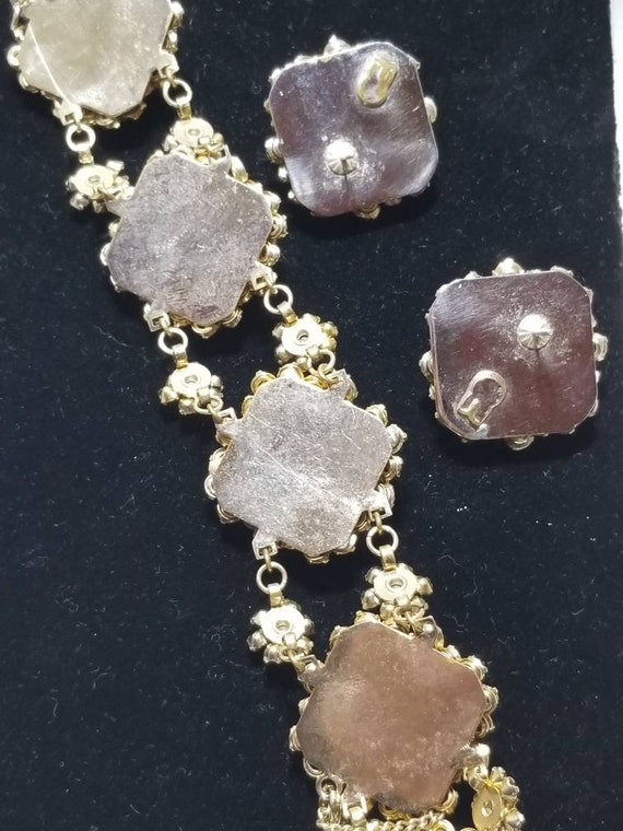 Beautiful Austrian Rhinestone Bracelet Set - image 5