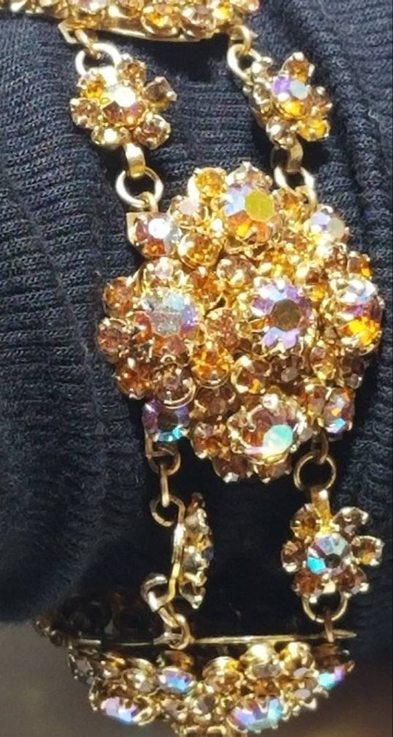 Beautiful Austrian Rhinestone Bracelet Set - image 2