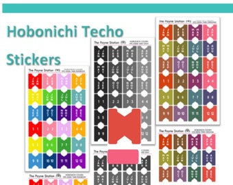 HTC-050 Hobonichi Techo Tabs for your Agenda Planner in Original, Gray, and Rainbow