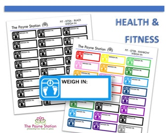 FIT-070 Weigh In Stickers for Your Every Little Need, Planning, Listing, Collecting, Functional Decorative. YOU CUSTOMIZE!