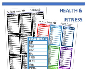FIT-080 Measurement Stickers for Your Every Little Need, Planning, Listing, Collecting, Functional Decorative. YOU CUSTOMIZE!