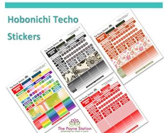 HTC-101 Hobonichi Techo A5 Cousin January Monthly Sticker Sheet