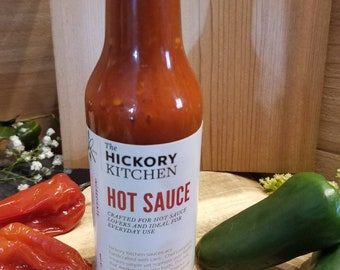 Hickory Hot Sauce (3 bottles) - best selling everyday hot sauce, perfect on everything! Great Fathers day gift!