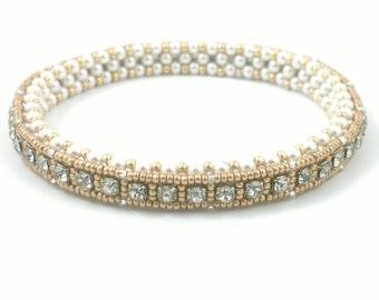 Beading4perfectionists:  Giffany's bangle bracelet beading pattern tutorial PDF file