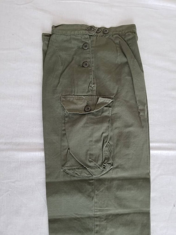 Womens military pants, Vietnam war era, ripstop, n