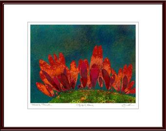 Pressed Seaweed Print, Palmaria Palmata, Ogunquit, Maine.  Item # 510302 ep.