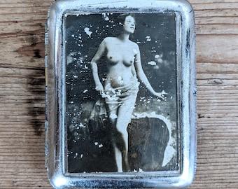 Nude Cigarette Case Antique
