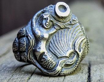 Mermaid Ring 830 silver