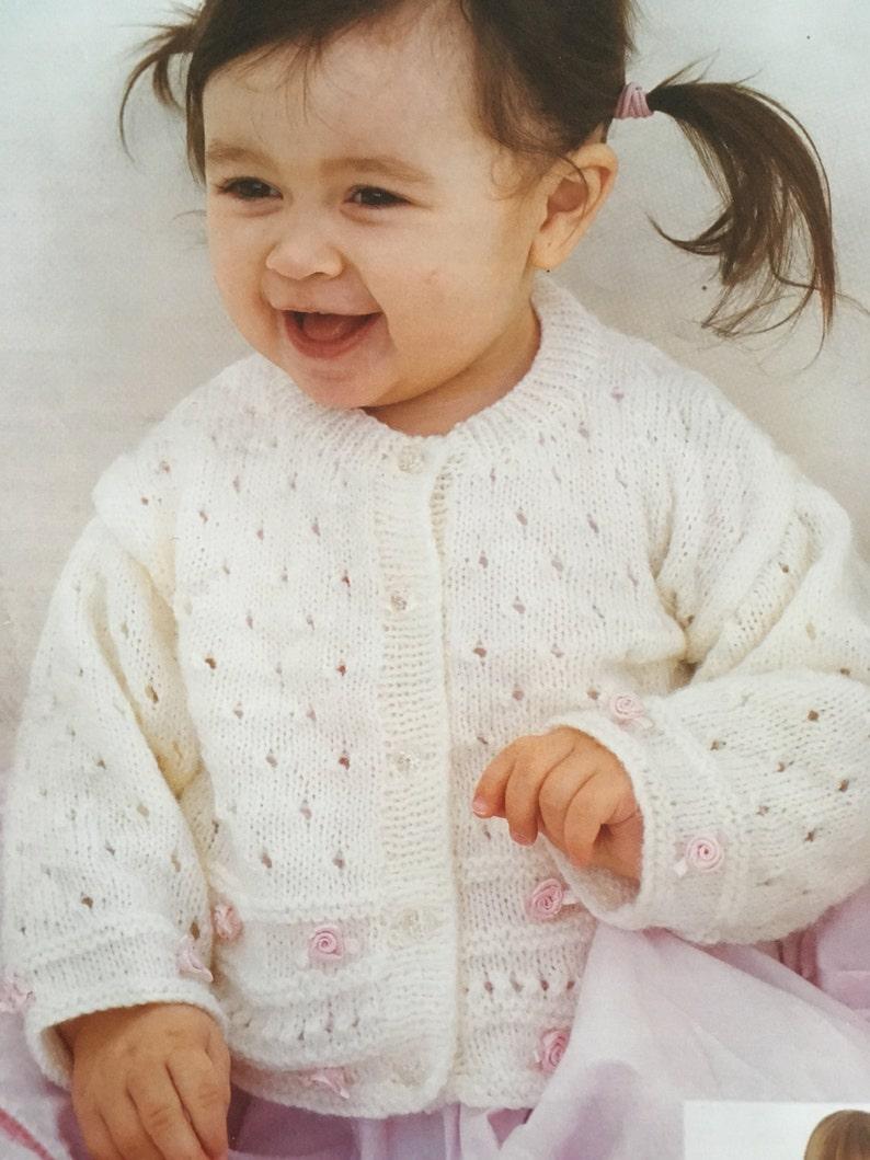 Knitting Pattern Children Baby Girl Cardigan 4 Ply 6 Months Etsy