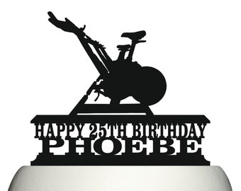 Girl Personalized Cake Topper Fitness LT1340 Keepsake Exercise Cycling