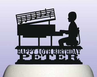 Piano Taart Topper Etsy