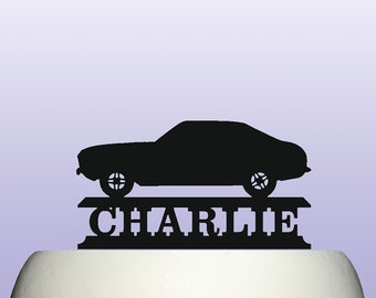 Personalised Acrylic Charger 1969 American Classic Muscle Car Cake Topper