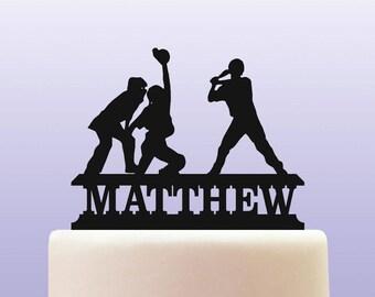 Personalised Acrylic Baseball Birthday Keepsake Cake Topper Decoration