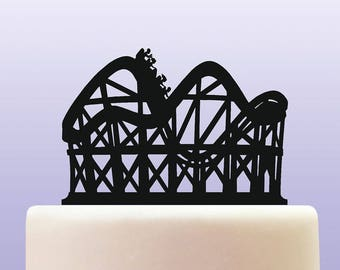 Acrylic Roller Coaster Fairground Cake Topper