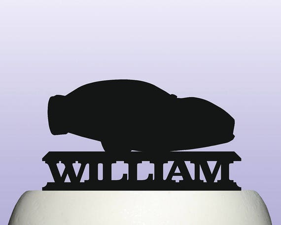 Personalised Acrylic High Performance Sports Car Cake Topper Etsy