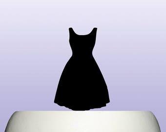 Acrylic Retro 50s Ladies Dress Cake Topper