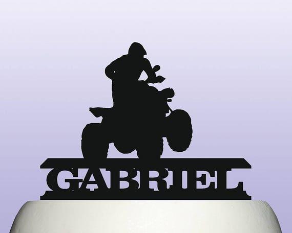 Personalised Acrylic Motocross Quad Bike ATV all Terrain Vehicle Cake Topper
