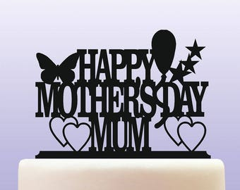 Acrylic Mother's Day Cake Topper