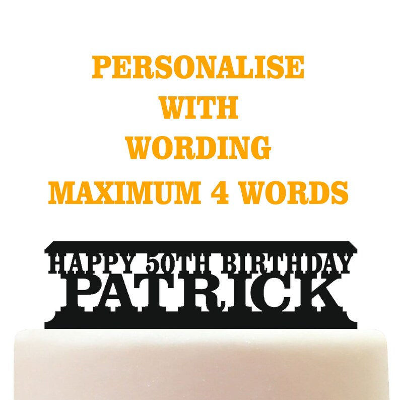 Personalised Acrylic Rowing Birthday Keepsake Cake Topper Decoration