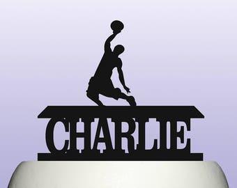 Personalised Acrylic Basketball Birthday Keepsake Cake Topper Decoration