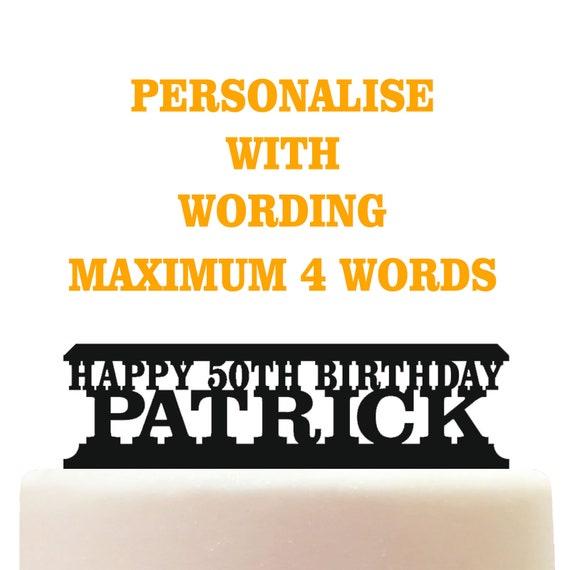Personalised Acrylic Football Soccer Referee Keepsake Birthday Cake Topper Decoration