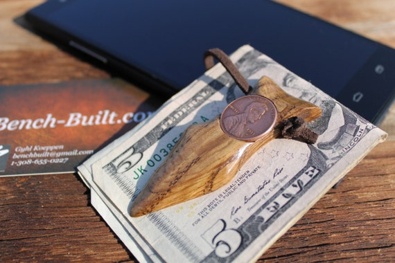 Stupendous Hand Carved Lincoln Arrowhead Money Clip By Bench Built Pabps2019 Chair Design Images Pabps2019Com