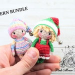 PATTERN BUNDLE: Crochet Elf, Amigurumi Doll, Christmas Elves (English Only)