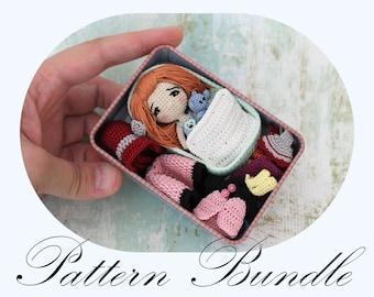 PATTERN BUNDLE: Amigurumi Doll, Pattern BUNDLE, Crochet Pattern, Amigurumi Crochet, Doll Pattern (English Only)