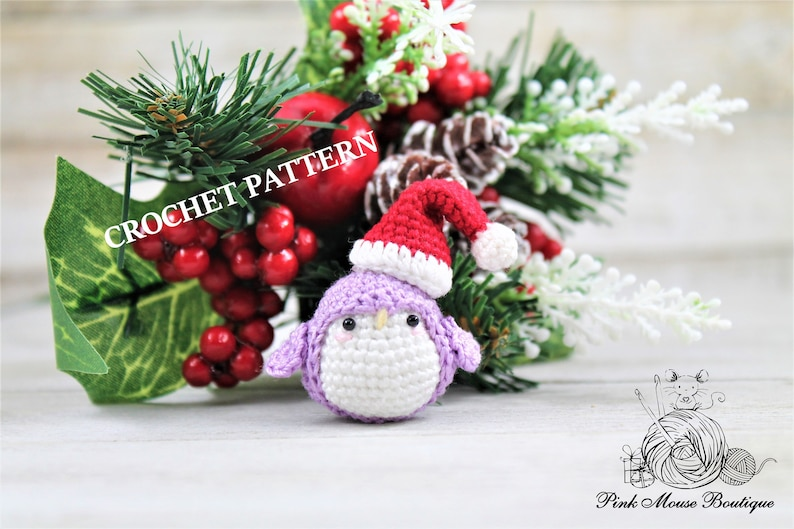 CROCHET PATTERN: Baby Penguin English Only image 0