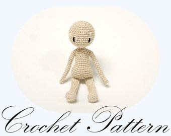 PATTERN: Amigurumi Doll, Basic Doll Pattern, Crochet Doll (English Only)