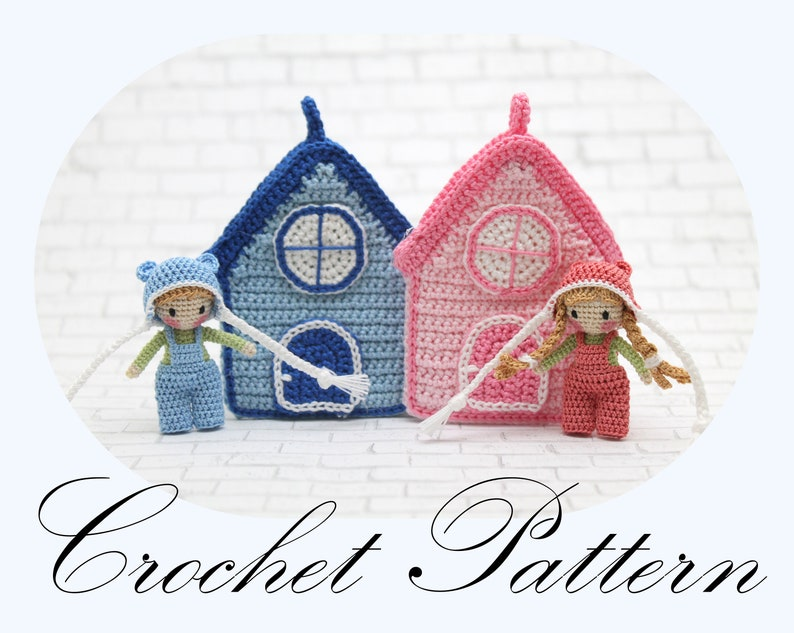 Amigurumi Doll in Crochet House Necklace PDF PATTERN English image 0