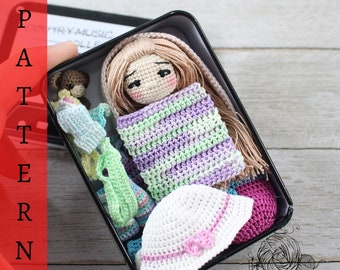 AMIGURUMI PATTERN: Little Miss Sophie (English Only - US Terminology)