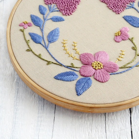 Floral Hand Embroidery Patterns Pdf Digital Download 6 Etsy