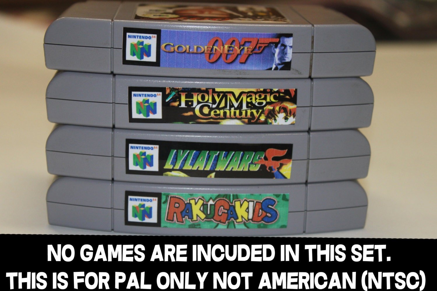 Pal Nintendo 64 Top End Spine Labels Version N64 Etsy Switch Lego Ninjago Movie Video Game English Games