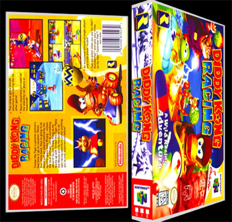 Diddy Kong Racing - N64 Reproduction Art Case/Box No Game