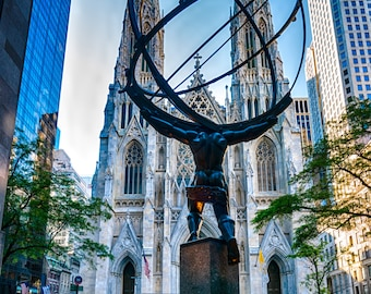 Saint Patricks Cathedral-Fifth Avenue - early morning light
