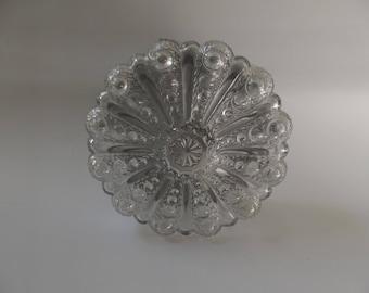 Plafoniere Retro : Er jahre plafoniere antik deckenlampe kristall lampe etsy