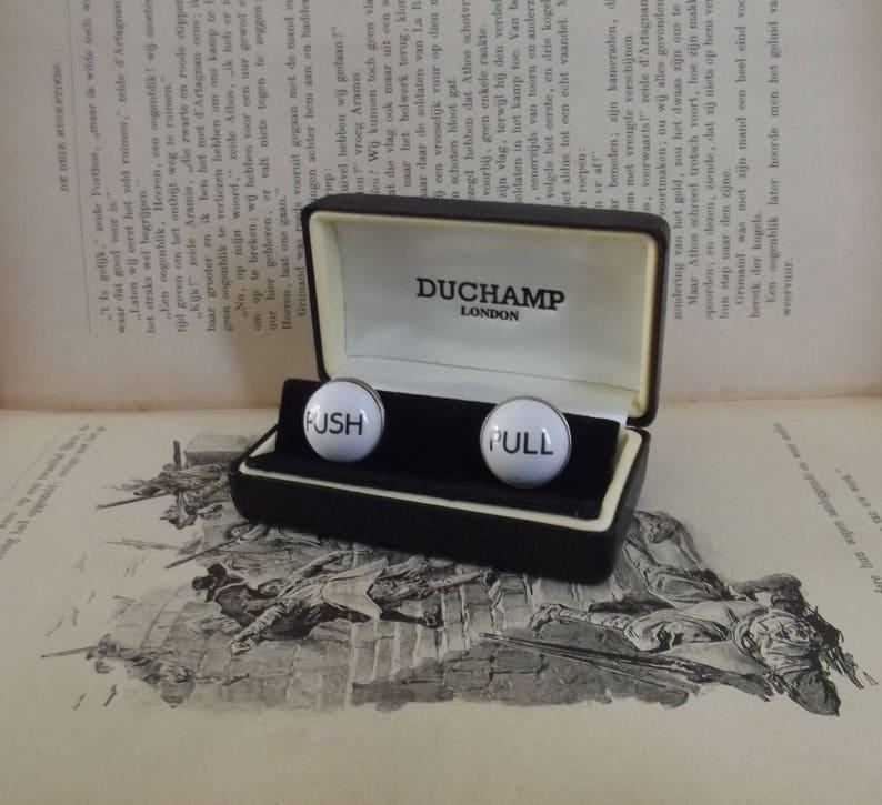 Duchamp London push pull cufflinks