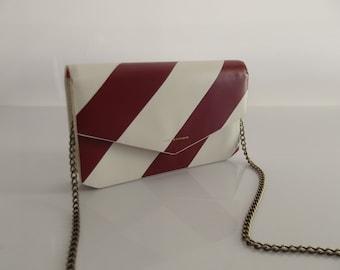 Tammy & Benjamin - Paris, clutch, gala clutch, evening clutch, red white stripes