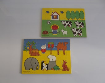 Dick Bruna, wooden puzzles, children puzzles, 1970s