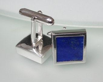 Lapis Lazuli Sterling Silver Cufflinks