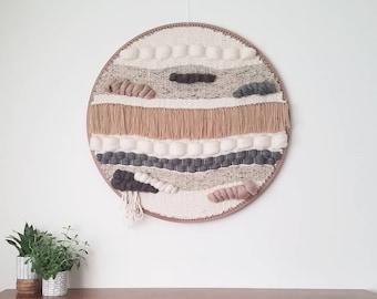 "Large woven Macrame Wall Hanging, wall art decor, Weaving Woven Tapestry ""Canyon"""