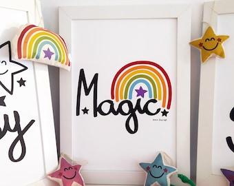 Magic, decorative print .... decorative drawing